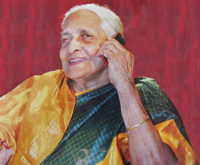 Vasanthi Narayana Uchil .... Stepped into 99 yesterday.