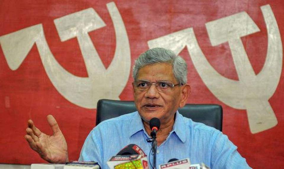 Sitaram Yechury, D. Raja detained at Srinagar airport