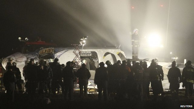 Plane crash landing in Ukraine kills at least five: officials