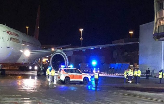 Air India plane hits building at Stockholm airport