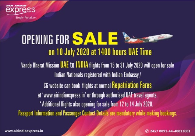 Air India Express tickets for UAE-India go on sale at 2pm