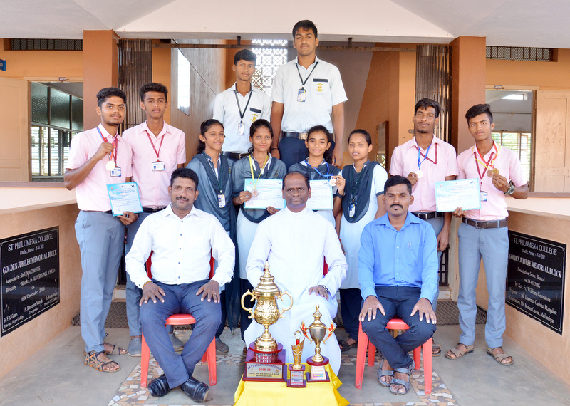 Athletic team of St Philomena PU College bagged overall Runners up title