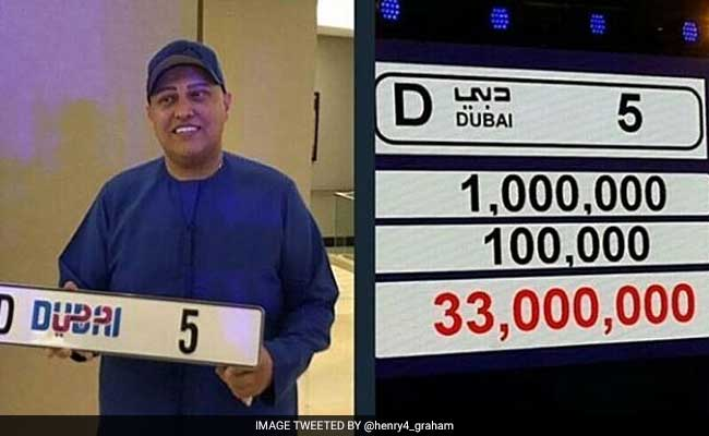 Dubai number plate collector donates Dh100m to charity