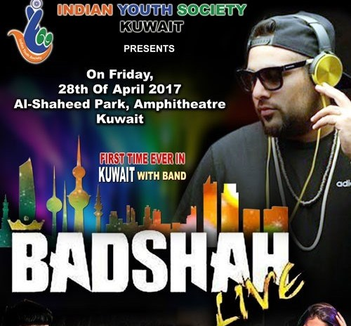 Kuwait: King of Rap – BADSHAH to perform live in Al-Shaheed Park with his full band