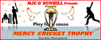 "MJC & Dunhill cricketers announce ""Mercy Cricket Trophy 2012"""