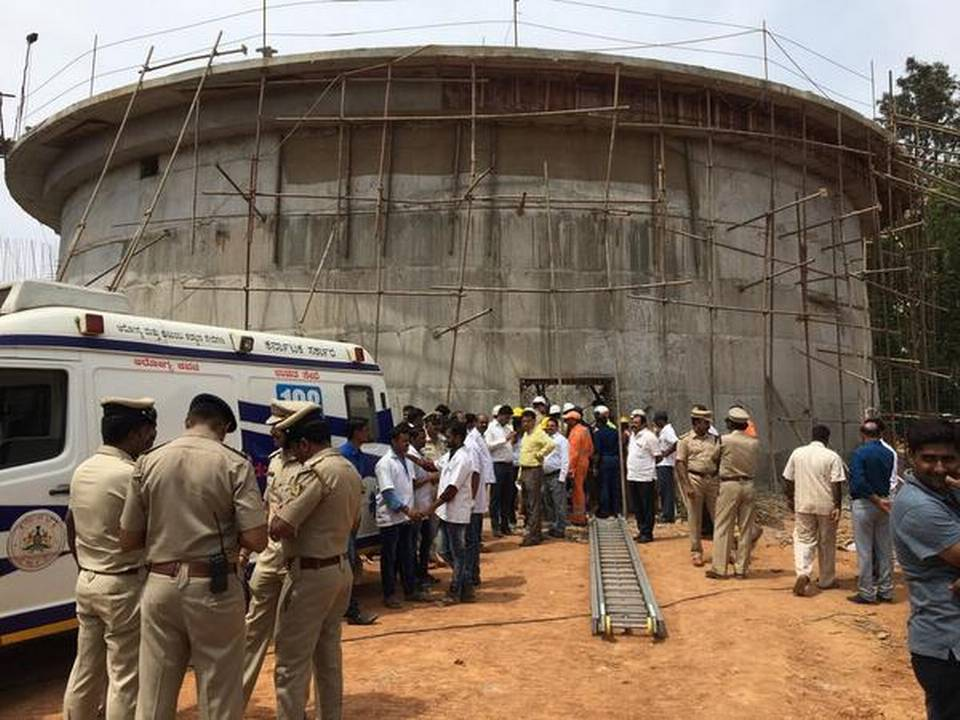 Three killed after under-construction water tank collapses in Bengaluru