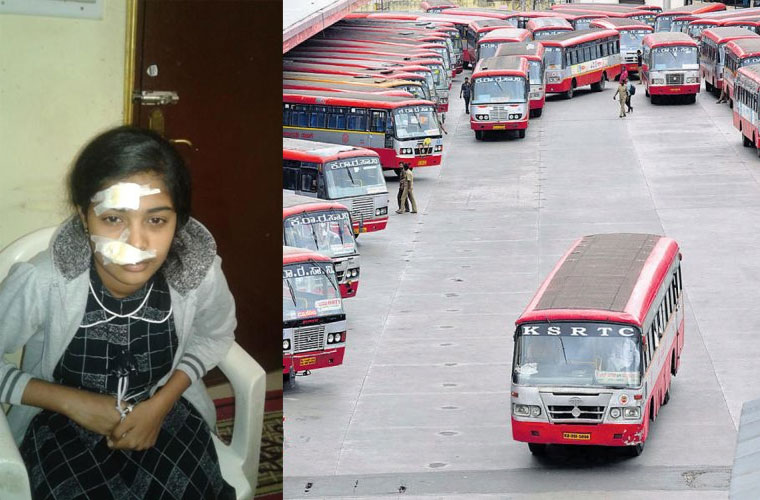 KSRTC conductor pushes girl student out of moving bus