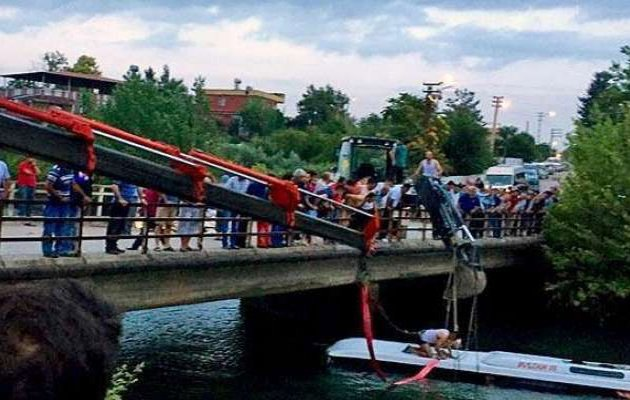 Three died as bus plunged into a river in Kasargod