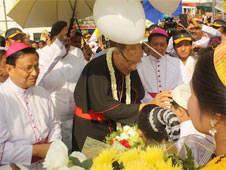 Church marks 500 years in Myanmar. Cardinal Ossie is Papal rep.