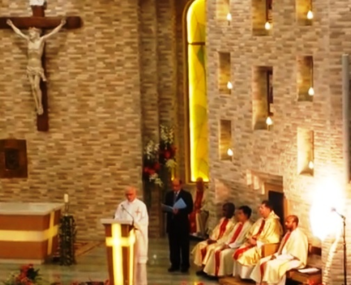 First Holy Mass at the St. Theresa's Chapel inside the newly built Parish Center, Abu Dhabi