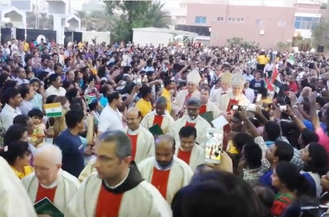 Kemmannu.com Video 3: Procession before the First Holy Mass at the news Chapel in Abu Dhabi