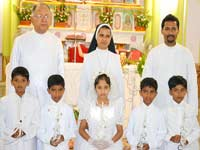 First Holy Communion celebration at Kemmannu Church