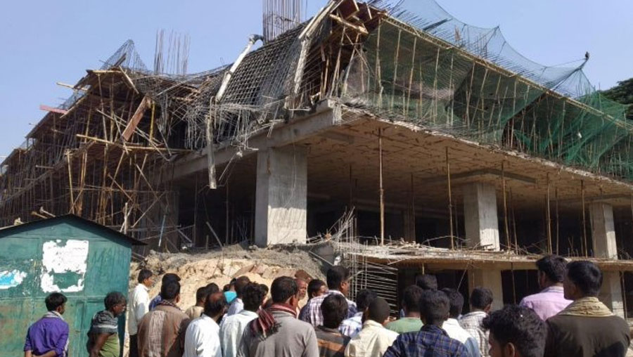 Two killed, eight injured in under-construction building collapse