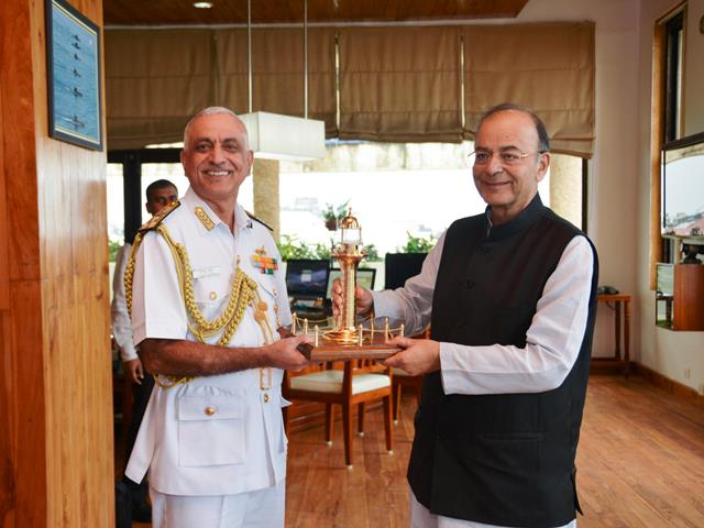 Arun Jaitley,visited the Western Naval Command of the Indian Navy at Mumbai