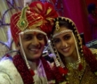 Bollywood couple Riteish Deshmukh and Genelia D'Souza tied the knot today according to Marathi traditions