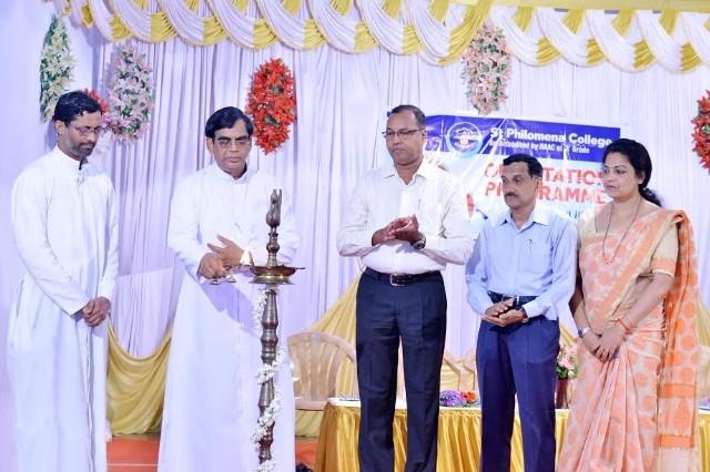 The orientation programme held at St Philomena College, Puttur