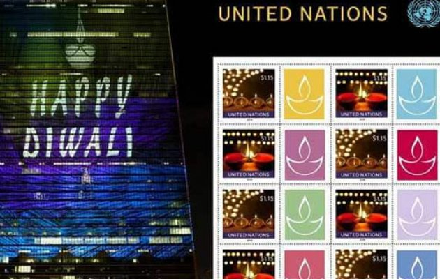 UN postal agency issues special Diwali stamp