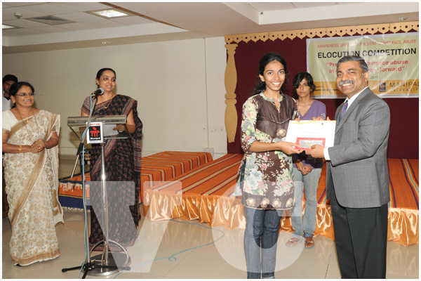 Manipal University : Elocution competition on Preventing Substance Abuse Held