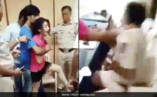 Caught On Camera! Drunk Woman Assaults Cops, Ransacks Police Station
