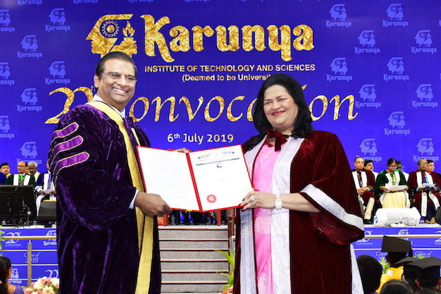 Madam Grace Pinto Received Doctorate