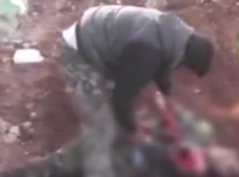 Outrage over Syrian 'rebel heart-eating video'