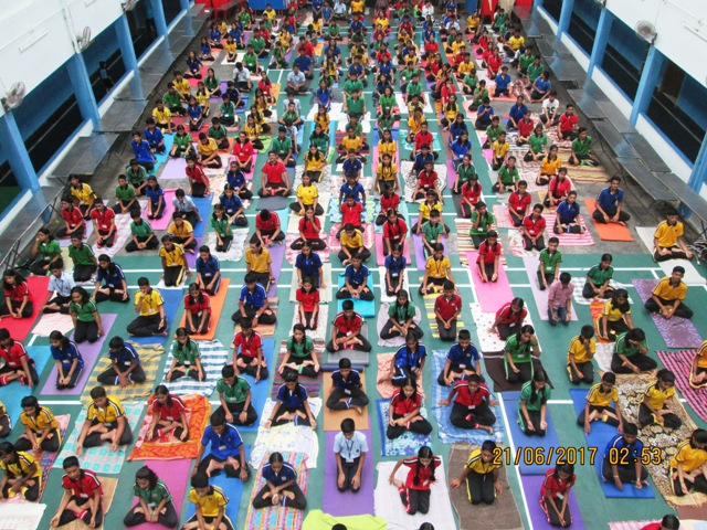 Yoga Day programme conducted in Madhava Kripa Manipal