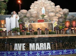 Bishop Paul Hinder Blessed the newly built Grotto at St. Mary's Dubai