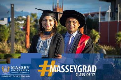 Amit and Namrata Taneja - Indian couple celebrate double graduation in New Zealand