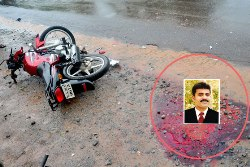 Udupi: Bus-bike Collision: Bike Rider loses Life