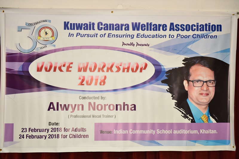 KCWA held Voice Workshop for aspiring Singers