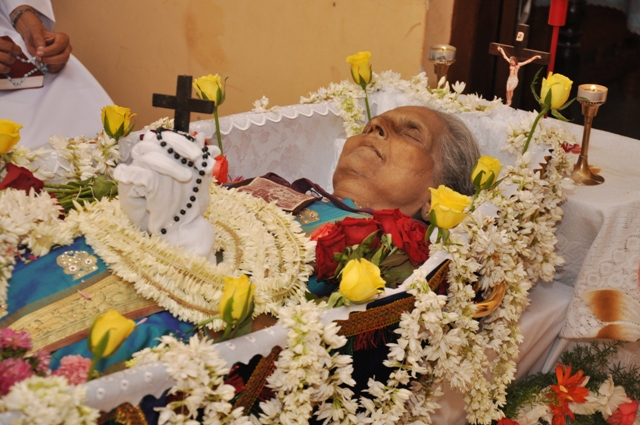 Funeral Photographs of Late Celine Lewis, 83, Kallianpur