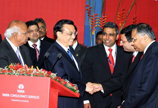 Chinese premier Li Keqiang engages with Tata group at TCS campus in Mumbai