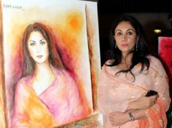 Artist Anjana Kuthiala Unveils Portraits of Vidya Balan, Princesses Diya Kumari of Jaipur and Saba Ali Khan of Pataudi