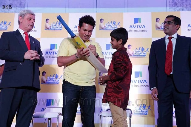 Sachin Tendulkar bats for underprivileged kids