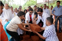 Report of Foundation Stone Laying Ceremony of SUNSHINE PARADISE, Shirva