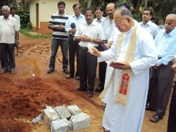 Foundation Stone laid for the extension of Kemmannu church hall.