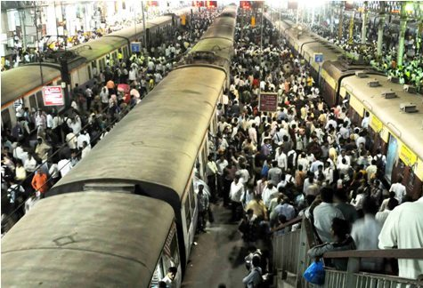 Train services disrupted in Mumbai