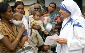 MOTHER TERESA OF CALCUTTA WAS A LIVING SAINT IN OUR MIDST.