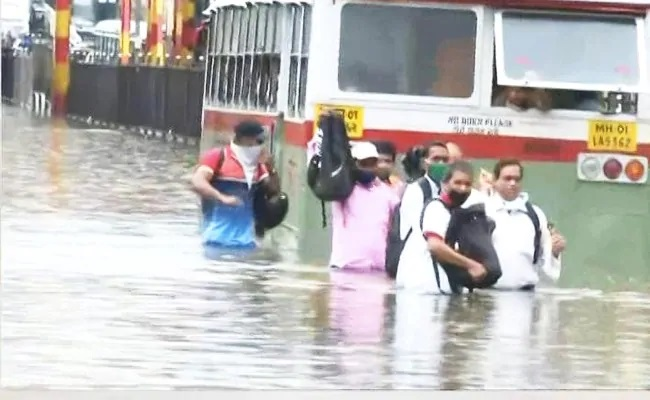 Mumbai Flooded After Heavy Overnight Rain, Trains Suspended