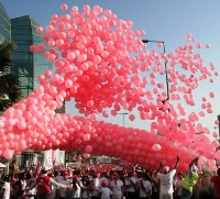 Dubai wears the pink message on its sleeve-8,000 turn up for seventh annual Pink Walkathon