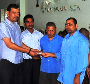 Dubai Based Chilly Willy Donates Rs. 25000/= to Spandana (Rehabilitation Centre for mentally Challenged Person)