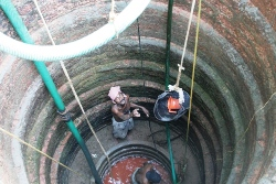 Cleaning a well- A specialized job performed by experts.