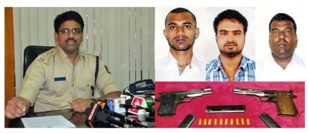UDUPI: NOTORIOUS UNDERWORD GAGNGSTERS ARRESTTED ALONG WITH IMPORTED PISTOLS AND CARTRIDGES