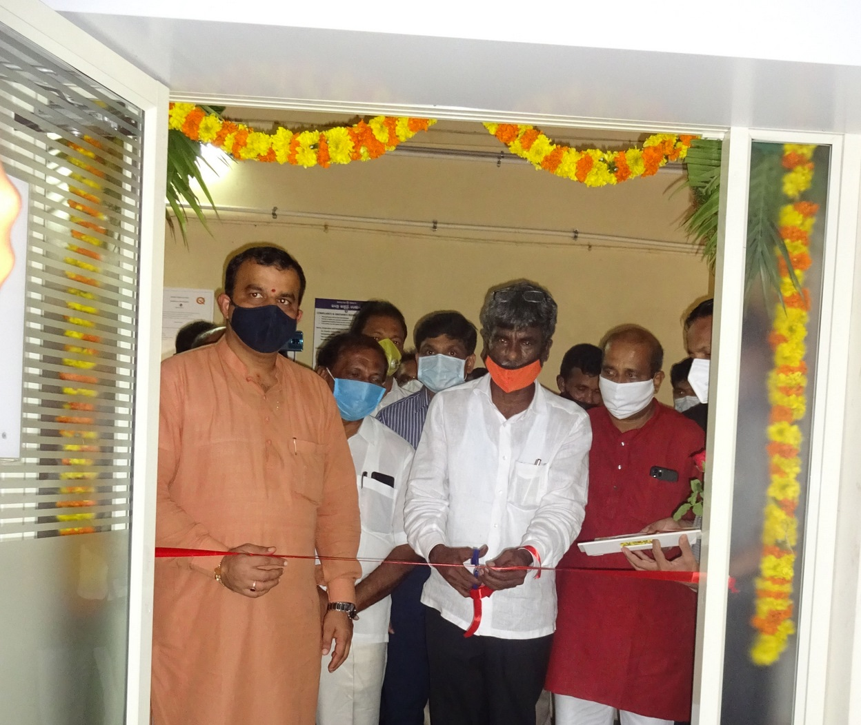 Minister Kota Srinivas Poojary inaugurates Covid-19 Government Testing Lab in District