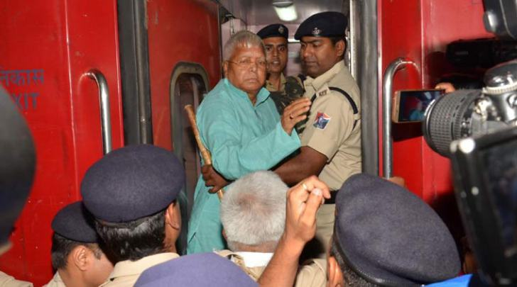 Lalu Yadav boards Rajdhani Express for treatment at AIIMS