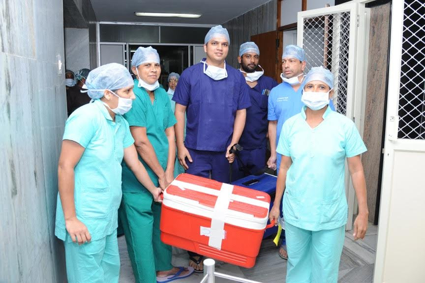 Organ harvesting from two brain dead patients in a single day in Manipal Hospital