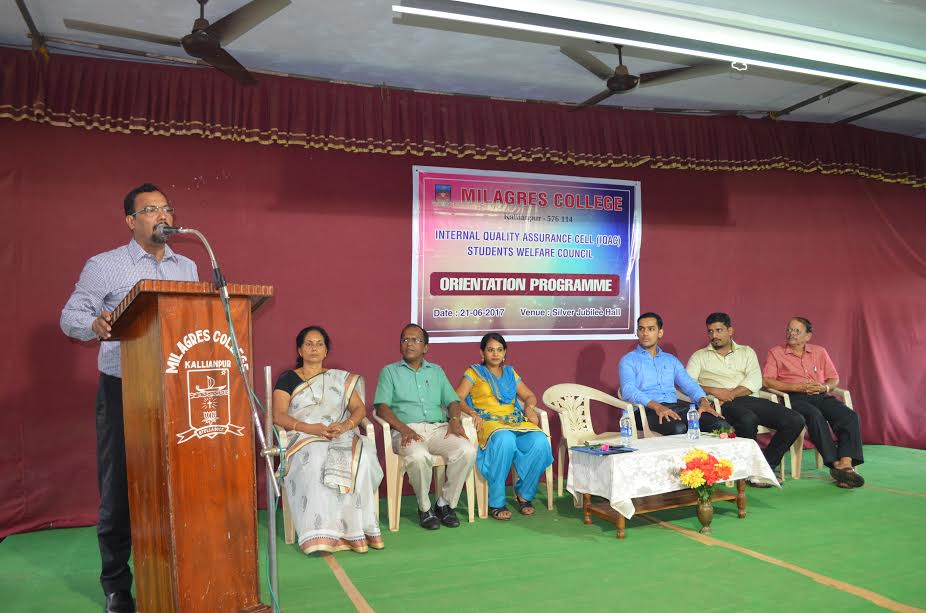 The Orientation programme held for 1st Year degree students of Milagres College, Kallianpur