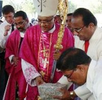 Bishop of Mangalore diocese Aloysius Paul D'Souza Laid Foundation Stone for the  Mount Rosary Church New building