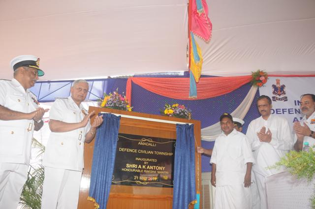 Inauguration of an Integrated Defence Civilian Township at Amadalli, Karwar, by the Defence Min.Shri AK Antony