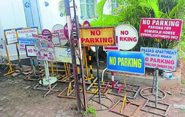 Traffic cops issue notice to bldg owners for 'No Parking' boards